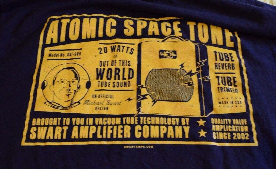 RARE Swart Amplifier Company T-Shirt Men L Blau Atomic Space Tone