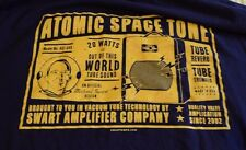 RARE Swart Amplifier Company T-Shirt Men L Blue Atomic Space Tone