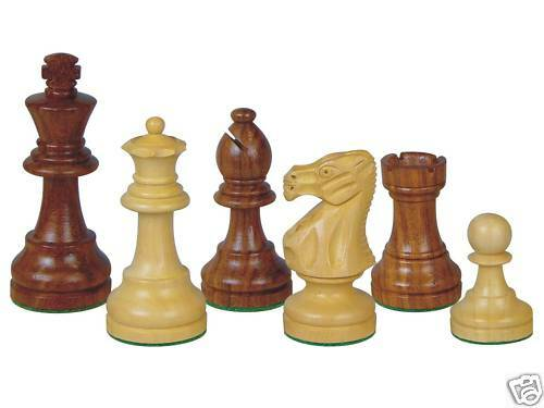 Wooden Chess Pieces Popular Staunton - 2 Extra Queens