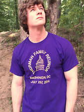 THURMAN FAMILY REUNION 2014 DC Purple 100% Cotton Size L T-Shirt