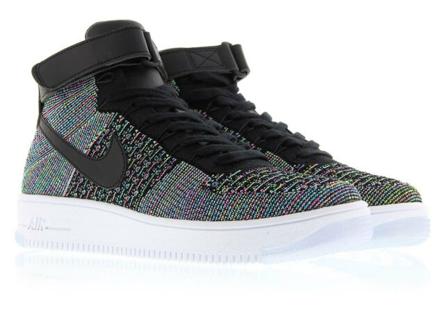 best website 3b208 93f1e NIKE AIR FORCE 1 AF1 ULTRA FLYKNIT MID SHOES 817420 -601 Multi Color Mens  11.5
