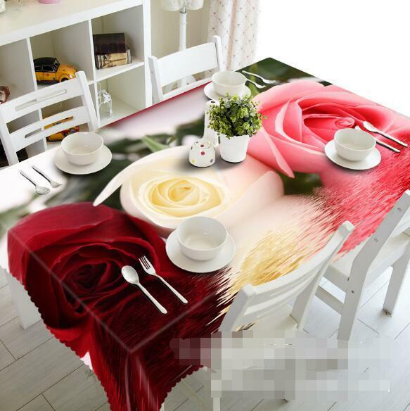 3D Rose 576 Tablecloth Table Cover Cloth Birthday Party Event AJ WALLPAPER AU