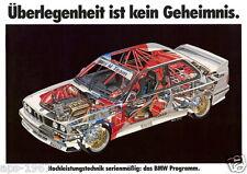 BMW E30 M3 DTM Motorsport cutaway Large promo poster Soper Ravaglia warsteiner
