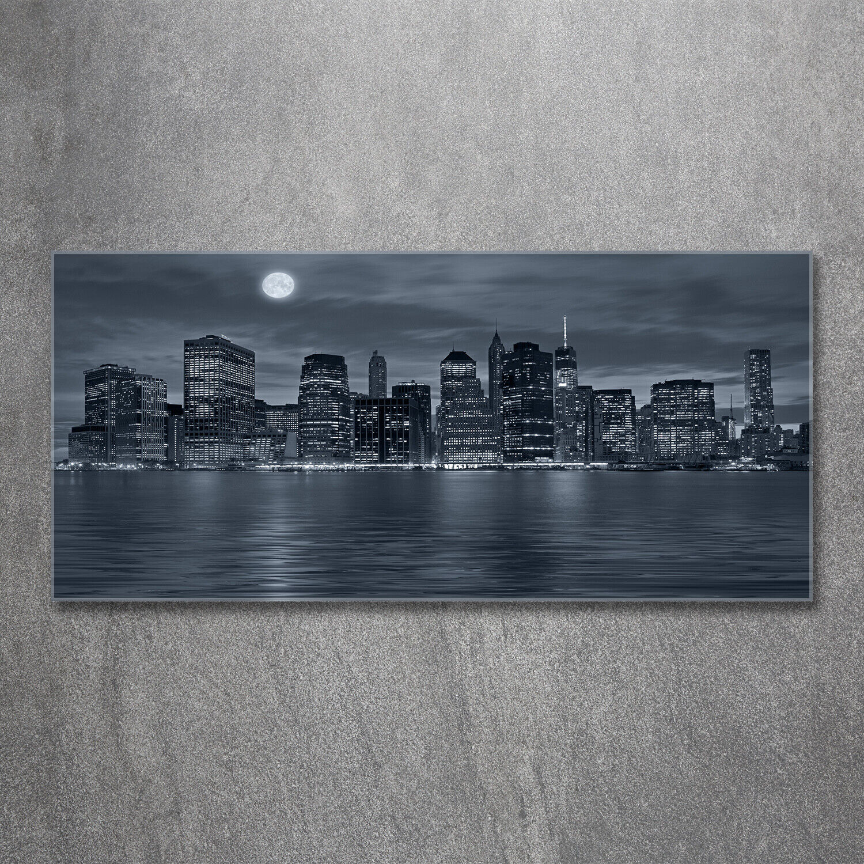 Acrylglas-Bild Wandbilder Druck 120x60 Sehenswürdigkeiten New York bei Nacht