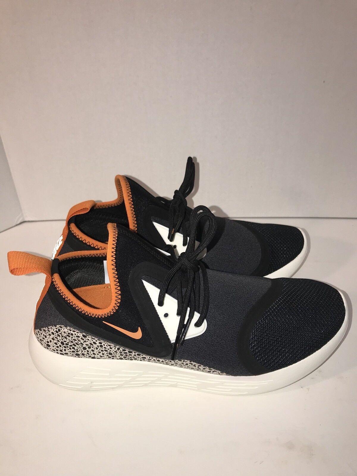 Cheap women's shoes women's shoes NIKE Lunarcharge BN black white orange safari 933811-081 Price reduction
