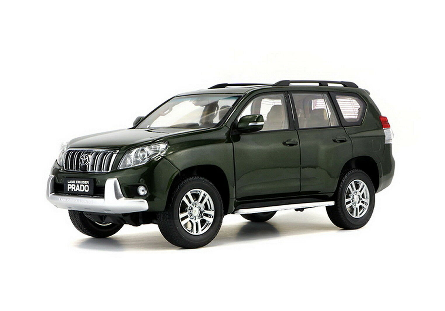 1/18 Scale Toyota Land Cruiser Prado verde Without Decal Diecast Car Model