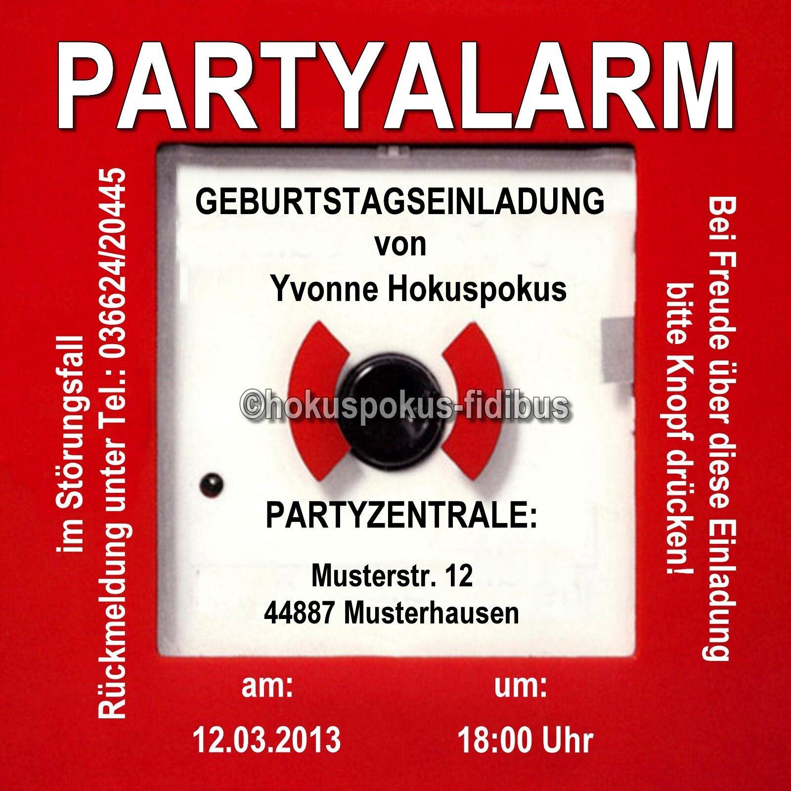 50 Cartes Invitation Anniversaire Invitations Pompiers Fête Party alarme