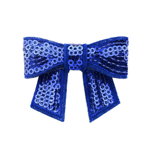 12pcs New Embroidered Sequin Bows Glitter Tie Hairpin Accessories Headbands HGUK