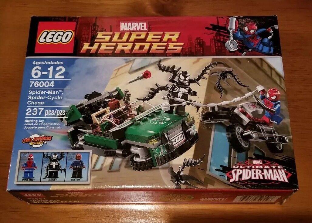 LEGO Marvel Super Heroes Heroes Heroes 76004 Spider-Man Spider-Cycle Chase Retired MISB Venom 70ef95