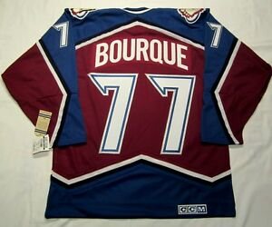sale retailer dd8c8 6cd84 Details about RAY BOURQUE size Large - Colorado Avalanche CCM 550 VINTAGE  series Hockey Jersey