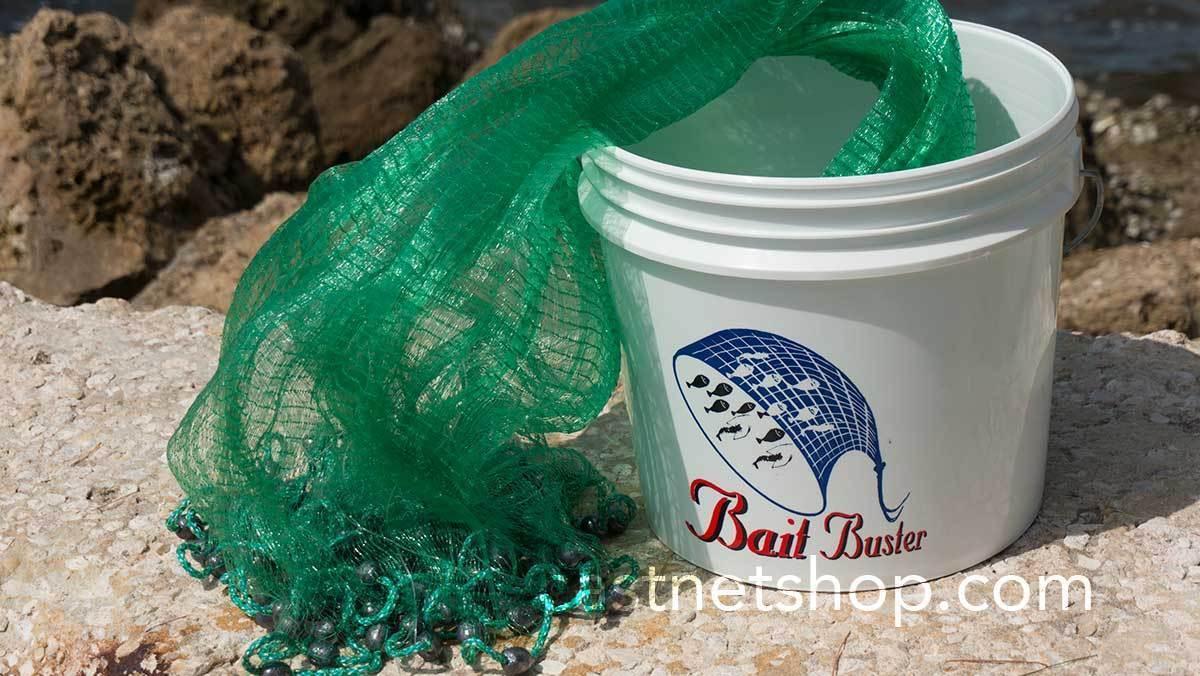 Bait Buster 9 ft. Radius 3 8  Sq. Mesh Bait Cast Net CBT-BB9