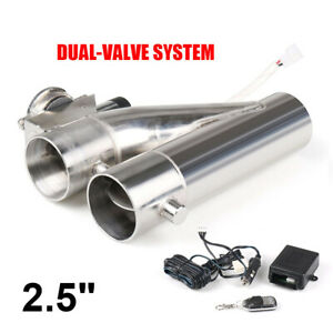 2-5-inch-63mm-Exhaust-Control-E-cut-Out-Dual-Valve-Electric-Y-Pipe-with-Remote