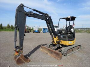 2011 John Deere 35D Mini Excavator Rubber Tracks Backhoe Aux Hydraulics bidadoo