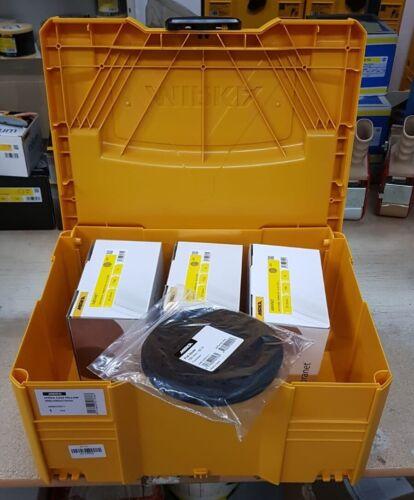 Case Geschenkt Mirka 3x50 Abranetscheiben+5 Schutzauflagen 150 mm Korn wählbar