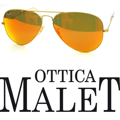 Specchiato Oro Personalizzato Orange Ban Remix 58 Mirror Aviator 3025 Gold Ray nkP80XOw