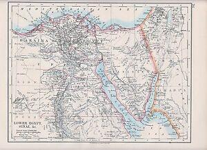 1931 Map Bahaira Egypt Sinai Peninsula Of Sinai Ebay