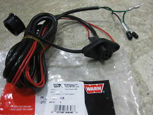 warn 69648 replacement remote control socket plug recepticle winch rh ebay com safety harness winch winch electrical harness
