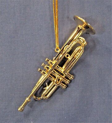 Gold Trumpet Ornament Musical Instrument Collectible ...