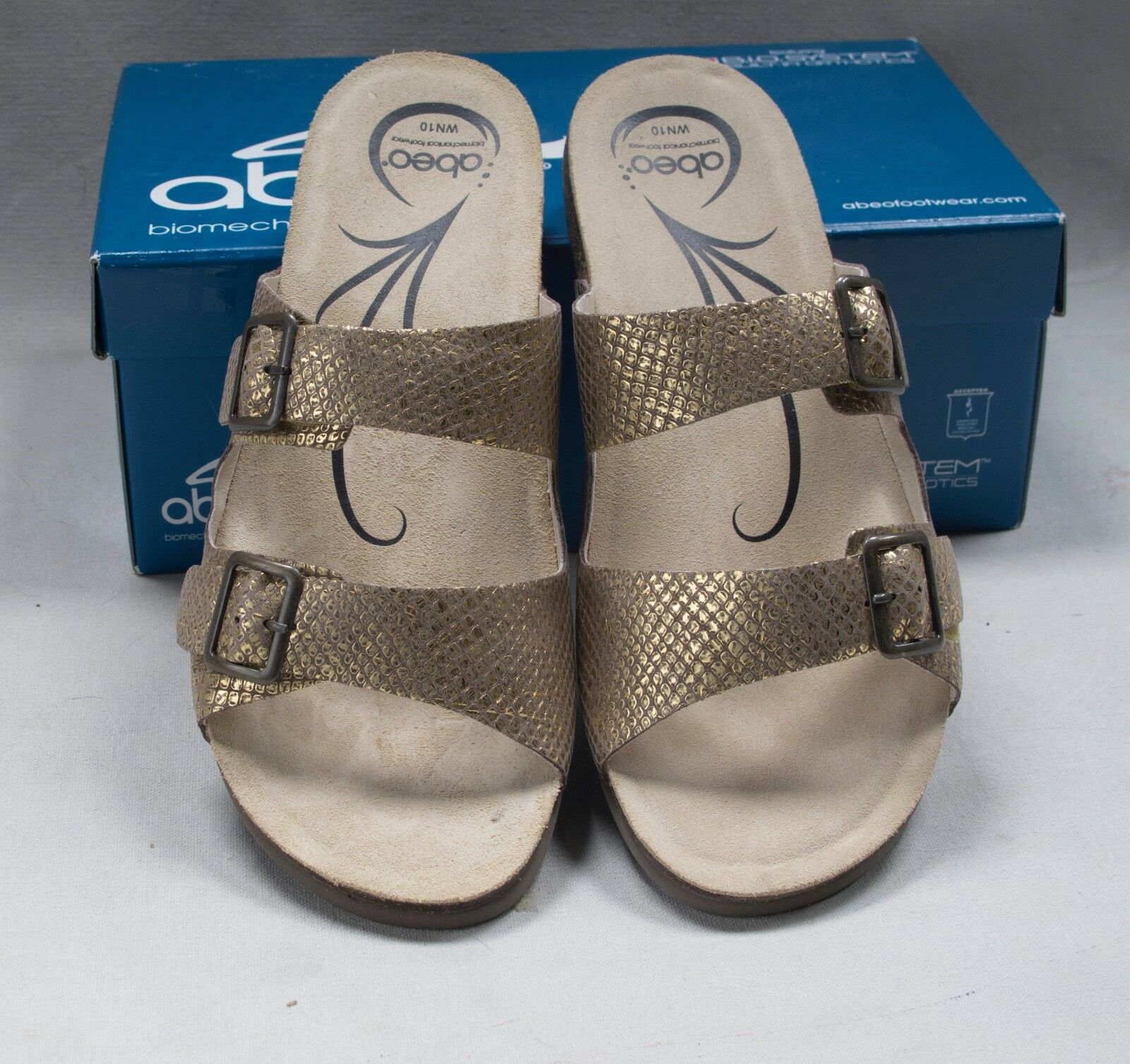 NIB Donna  abeo  Blythe  oro Sandal Sandal Sandal Dimensione 10 Narrow 27722c