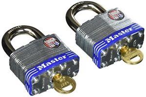 DéVoué Master Lock 5t Cadenas, Acier Laminé Verrou, 2 Pouces Ample, Pack De 2