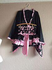 leg avenue Japanese Geisha Oriental Kimono 3 Piece Chinese Costume S