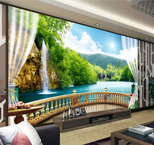 Image Is Loading 3D Wallpaper Bedroom Mural Modern Embossed TV Waterfall