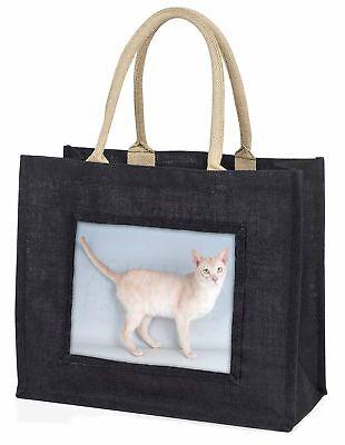 Tonkinese Katze große schwarze Einkaufstasche Weihnachten Geschenkidee,ac-114blb