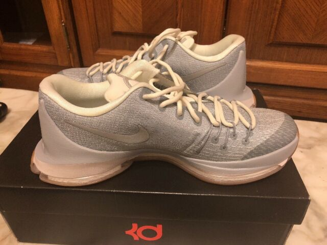 8e7977ae25ad Nike KD 8 Easter Wolf Grey And Gum Men Basketball shoes 749375-002 Size 9