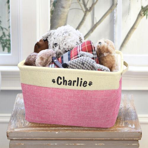 Boîte à jouets personnalisée pour chien en toile panier de rangement Avec poigné
