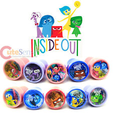 Disney Inside Out Self Ink Stamps 10pc Set  Joy Anger Sadness Fear Disgust