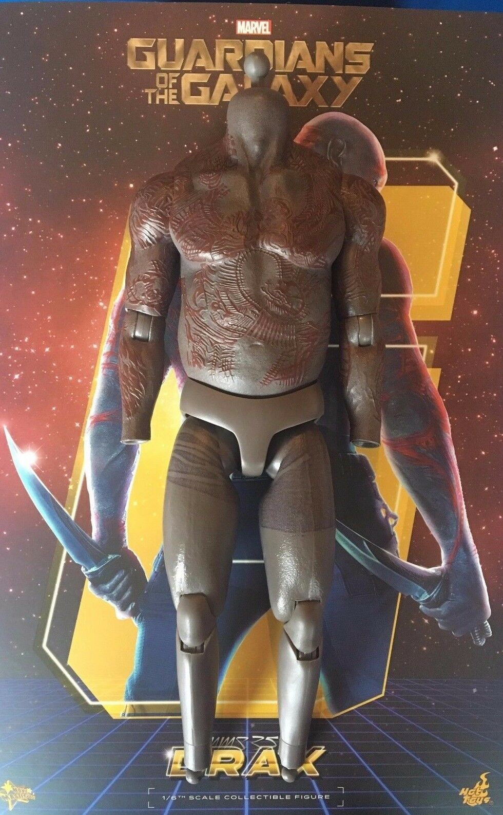 Hot Toys Guardians of the Galaxy Drax 12  Nude Muscle Body loose 1 6th scale