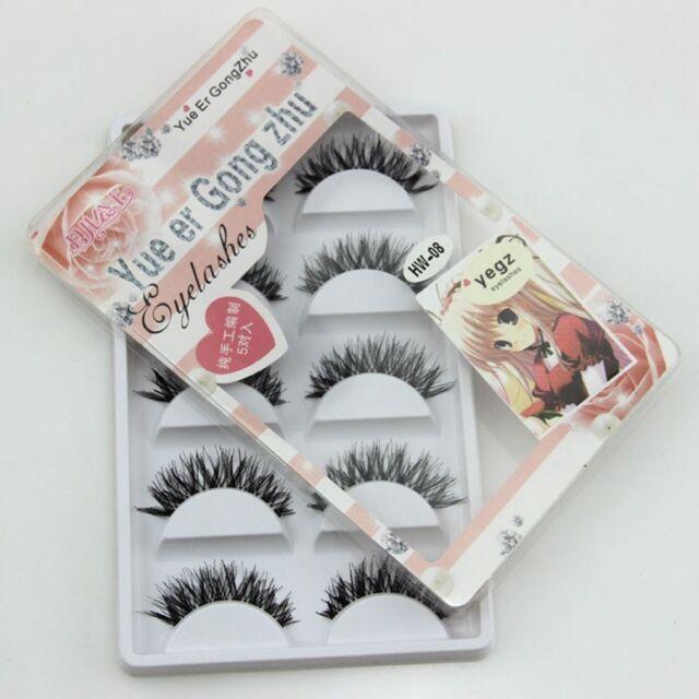 Pairs Natural Soft Long False Eyelash Eye Lashes Cosmetic Extension