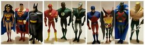 2003-Justice-League-10-034-Animated-Series-JLA-Loose-Figures-SET-of-10-Near-Mint