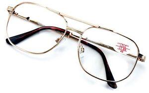 652d8c4208e Image is loading Metal-Aviator-Reading-Glasses-Big-Lens-Spring-Hinge-