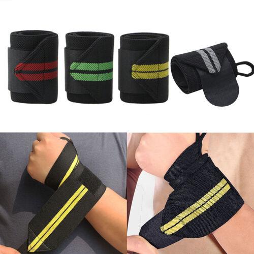 Wrist Wraps Power Lifting Sports Gym Training Hand Bar Support Straps Bandage Au