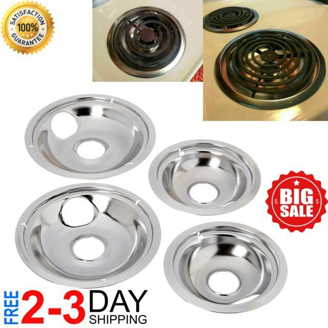 WB31M20 WB31M19 DB4 for GE Range Porcelain Black Drip Pans Bowls 4 PK 2ea