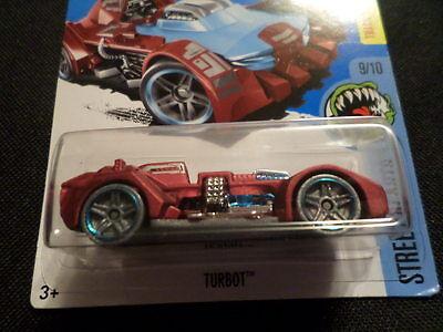 2016 Hot Wheels #209 Street Beasts 9//10 TURBOT Satin Red Variation w//Gray Wheels