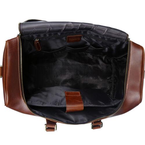 Men/'s real Leather Large Luggage Duffle Travel Gym Bag Shoulder Bag Laptop bag