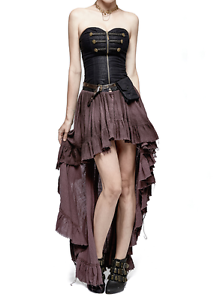 Punk Rave Steampunk Gothic Victorian Vampire Pirate Mediaval Style Corset Dress