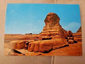 EGYPT GIZA, THE SPHINX Postcard unposted 1980s