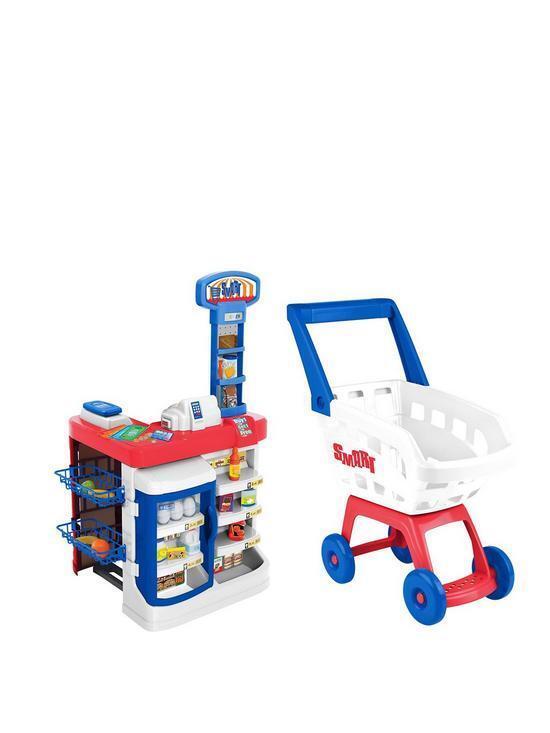Smkonst Electronic Supermarket och Trolley spelastat inomhus