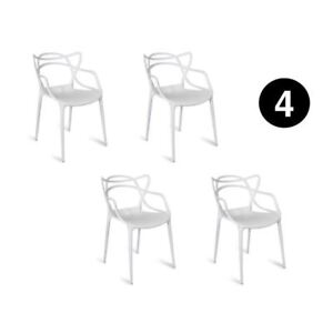 set of 4 dining chairs kartell philippe starck inspired masters