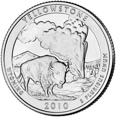 """2010-P HOT SPRINGS NATIONAL PARK QUARTER /""""Brilliant Uncirculated/"""" from Mint Bags"""