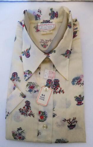 NOS Vintage 70s Novelty Blouse Asian Oriental Flow