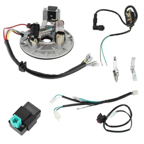 Electric Wiring Harness Kit Car CDI Ignition Coil Spark Plug for 50cc 90cc 110cc