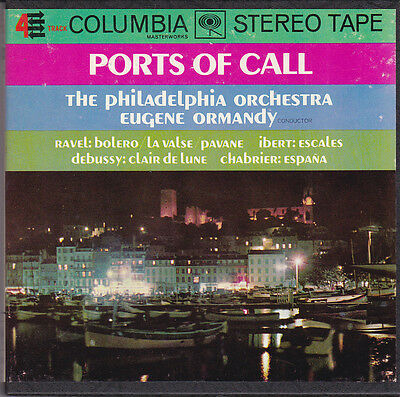 Ormandy Conducts 7 1/2 Ips Reel Debussy Chabrier Ports Of Call: Ravel Ibert