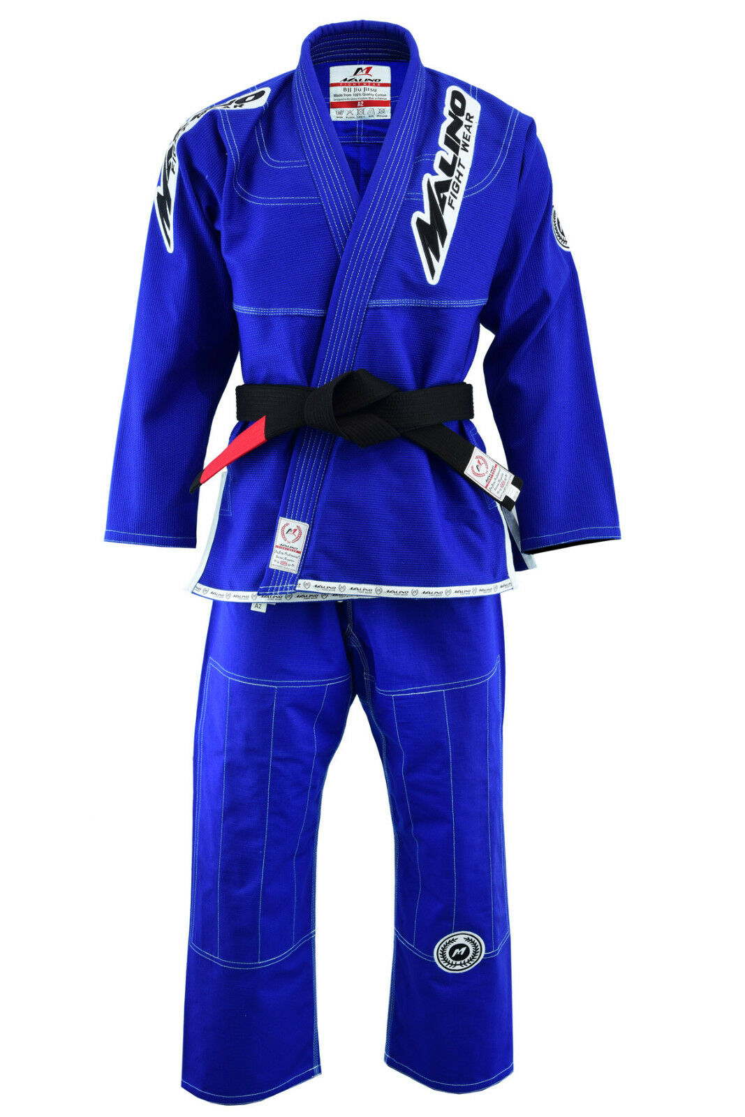 Malino BJJ Gi Suit Men Adult Uniform Brazilian Jiu Jitsu Kimono bluee 450Gsm