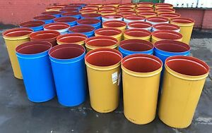205 LITRE/45 GALLON STEEL TAPERED DRUM/BARREL/CONTAINER/PLANTER TREES/METAL/BIN