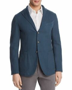 1595-EIDOS-Men-039-s-BLUE-SOLID-SPORT-COAT-SUIT-Wool-BLAZER-Italy-US-40R-EU-50R