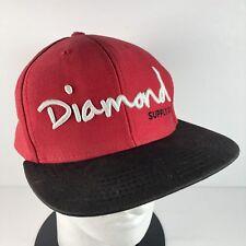 cd8780542f4 DIAMOND SUPPLY CO Men s Snapback Baseball Hat Adjustable Skate Red Black  White